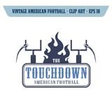 futbol amerykański ikony temat Obrazy Royalty Free