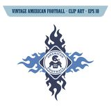futbol amerykański ikony temat Zdjęcie Stock