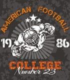 Futbol Amerykański - wektorowa ilustracja dla t- Zdjęcie Stock