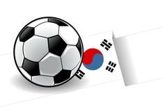 futbol bandery Korei Zdjęcie Stock