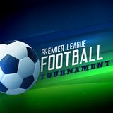 Futbol bawi się turniej piłki nożnej mistrzostwa tło ilustracja wektor