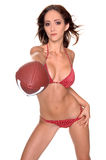 futbol bikini zdjęcie stock