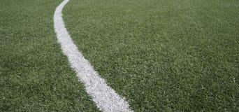 Futbol, boisko do piłki nożnej/ linia Obrazy Stock