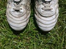 Futbol butów przód Zdjęcie Royalty Free