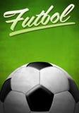 Futbol - fotboll - fotbollspanjortext stock illustrationer