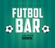 Futbol - Fußball - Fußball Barkarte-Kartendesign  Stockfoto