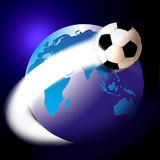 futbol globu świata futbolu Zdjęcie Royalty Free