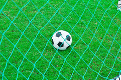 Futbol i boisko do piłki nożnej. fotografia royalty free