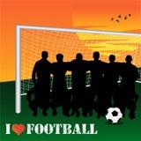 futbol ja kocham ilustracja wektor