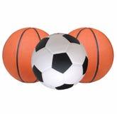 Futbol, koszykówka Obraz Royalty Free
