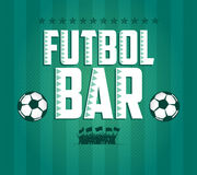 Futbol - le football - design de carte de menu de barre du football  Photo stock