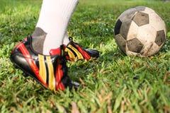 Futbol lub gracze piłki nożnej Zdjęcia Royalty Free