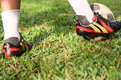 Futbol lub gracze piłki nożnej Obrazy Royalty Free