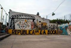 Futbol mlejący w losie angeles Boca Zdjęcia Royalty Free