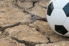 Futbol na piasek ziemi Obraz Royalty Free