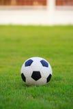 Futbol na polu zielona trawa Zdjęcie Royalty Free