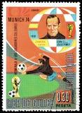 Futbol na znaczkach pocztowych obrazy royalty free