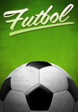 Futbol - Soccer - Football spanish text Royalty Free Stock Images