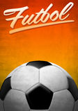 Futbol - Soccer - Football spanish text Royalty Free Stock Photography