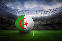 Futbol w Algeria colours Obrazy Royalty Free