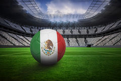 Futbol w Mexico colours Zdjęcia Royalty Free