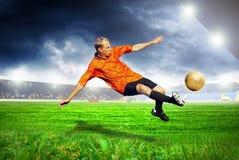 Futbolista obrazy royalty free