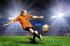Futbolista Imágenes de archivo libres de regalías