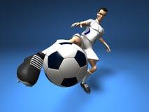 Futbolista Imagenes de archivo