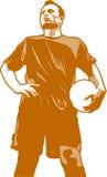 Futbolista stock de ilustración