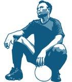 Futbolista foto de archivo