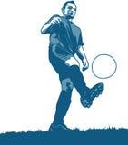 Futbolista ilustración del vector