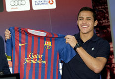 futbolista Alexis futbolista Sanchez obraz royalty free