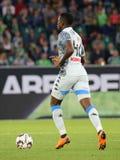 Futbolista Amadou Diawara en la acción durante un partido de fútbol foto de archivo