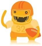 Futbolista americano divertido Monster Fotografía de archivo libre de regalías