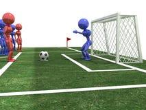 Futbolista bierze karę -3 obrazy stock