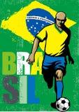 Futbolista brasileño Foto de archivo libre de regalías