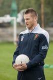 Futbolista de Marcin Robak de Pogon Szczecin Polonia Imagen de archivo libre de regalías
