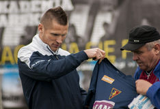 Futbolista de Marcin Robak de Pogon Szczecin Polonia Fotografía de archivo libre de regalías