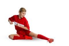 Futbolista de sexo femenino Imagenes de archivo
