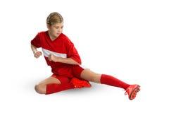 Futbolista de sexo femenino Imagen de archivo