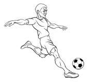 Futbolista del fútbol de la historieta Imagenes de archivo