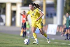 Futbolista femenino sueco - Pauline Hammarlund Imágenes de archivo libres de regalías