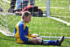 Futbolista joven Imagen de archivo