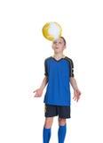 Futbolista joven. Foto de archivo libre de regalías