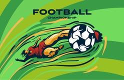 FUTBOLISTA kopie piłkę ilustracja wektor