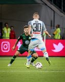 Futbolista Marko Rog bawić się podczas meczu piłkarskiego fotografia royalty free