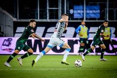Futbolista Marko Rog podczas dopasowania na 2018, 2019 sezonie - zdjęcia stock