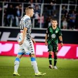 Futbolista Marko Rog podczas meczu piłkarskiego obrazy stock