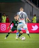 Futbolista Marko Rog que juega durante un partido de fútbol fotografía de archivo libre de regalías