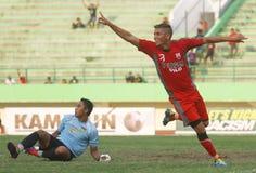 Futbolista muerto - mendieta de Diego Fotos de archivo libres de regalías